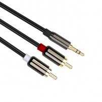 30 Feet (10 Meters) Gold Plated 3.5mm Aux Audio Male to RCA Male Stereo Audio Extension Cable