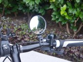 Quick Release Bike / Bicycle Handlebar Flexible RearView Mirror / Reflector