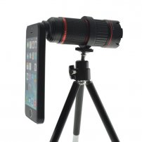 Manual Zoomable 4X-12X Optical Telescope Lens Kit for iPhone 5s / iPhone 5
