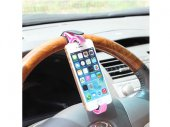 Car Vehicle Steering Wheel Cradle / Holder / Smart Clip / Mount for iPhone / Phone / GPS