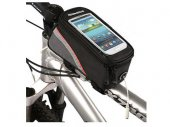Bike / Bicycle Top Tube Belt Bag with 3.5mm Cable for 4.8 inches Screen