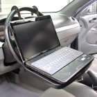 Car Portable Tray / Headrest / Seat Back Steeting Wheel Mounted Stand for Notebook, Macbook, Laptop