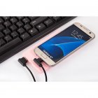 Angled USB A Male to Angled USB Micro Male Data Sync & Charge Cable for Samsung / Android Phones