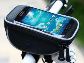 Bike / Bicycle Front Top Frame Handlebar Bag (1.0L) With Waterproof Pouch for 4.8in Smartphone