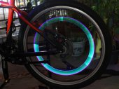 Car / Motorcycle Bicycle Wheel-Light - Wheel Tire Valve Cap with LED Light Lamp