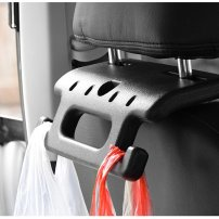 Car Back Seat Hand Grip / Auto Head Rest Handle / Hanger Hook and Orangizer for Bag, Cloth, etc.