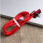 Angled USB A Male to Angled USB Micro Male Cable for Smartphones