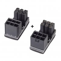ATX 6 Pin Female to 6pin Male 180 Degree Angled Power Adapter for Desktops Graphics Card