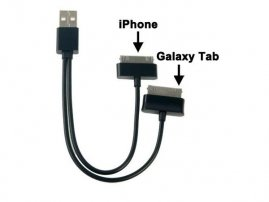 Y Charging Cable for Apple iPads and Samsung Galaxy Tabs