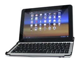 Aluminium Bluetooth Keyboard Case for Galaxy Tab 10.1""