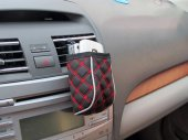 Auto / Car Air Vent Nylon Cell Phone Pouch / Holder / Storage Pocket / Bag