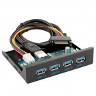 "USB 3.0 HUB 4 Ports Front Panel to Motherboard 20Pin Connector Cable for 3.5"" Floppy Bay"