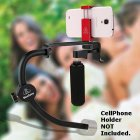 BFT DSLR / Camera / Smart Phone / iPhone Handheld Stabilizer, Gimbal w/ CounterWeight & Bubble Level