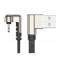 U-Shaped 180&deg Angled USB to Angled Lightning Charging Cable for iPhone / iPad / iPod for Gaming