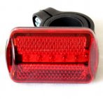 3-Mode + 5-LED Quick-Release Bike Rear Light / Tail Light / Cycling Safety Flashlight (Red)