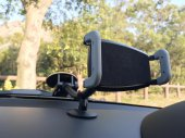 Gooseneck Car Windshield Mount with Dashboard Rest & Large Suction Cup for iPhones / Phablet Phones