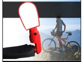 Adjustable Compact 3D Bike / Bicycle / Cyling Handlebar End (Dooback) / Angle Rear View Glass Mirror