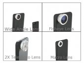4-in-1 Lens Combo for iPhone 4 / 4s (Threaded Backcase Required)