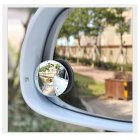 Motorcyce / Truck / Car Blind Spot Frameless Mirror (120 Degree Convex Mirror, Fisheye Effect, 30 De
