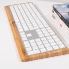 Samdi Bamboo Made Tray / Dock /Bracket / Platform for Bluetooth Apple Magic Keyboard with Number Pad