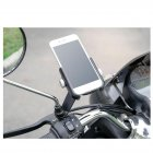 Firm Alloy Motorbike / Motorcycle Rear View Mirror Bolt Mount for iPhone and Smartphones