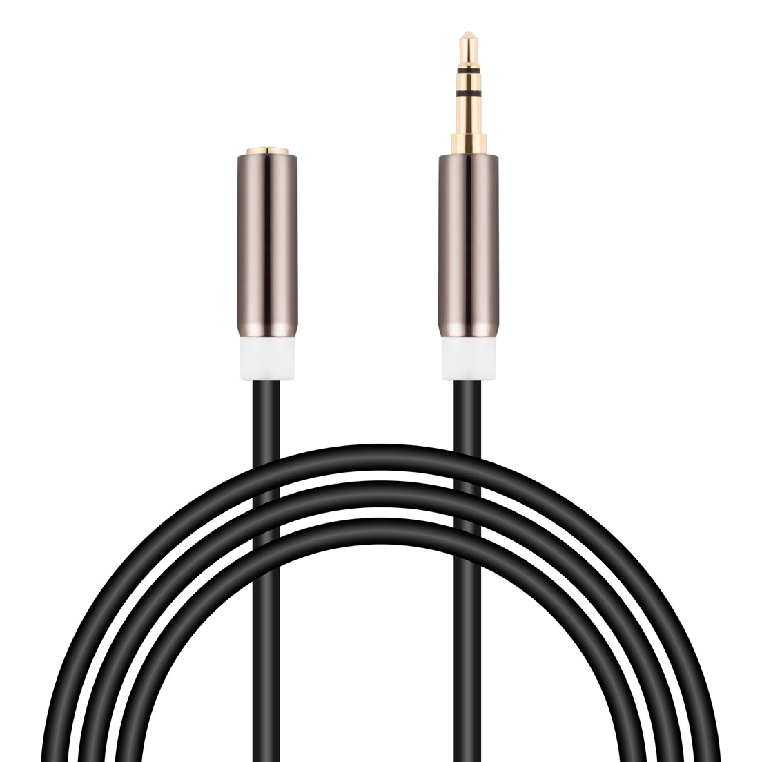3.5mm 3-Pole Male Female Extension Cable / Headphone Adapter for iPhone, iPad / Smartphones